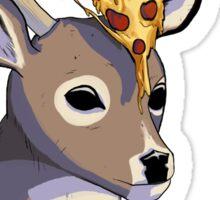 Deer, Pizza. Sticker