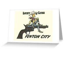 Lucky Luke Fenton City Greeting Card