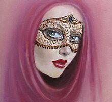 Lady at the Masquerade Ball by Dian Bernardo
