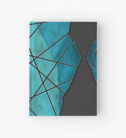 Marble Web  [Teal] Hardcover Journal