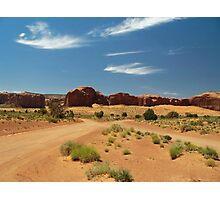 Cross Roads in Monument Valley Photographic Print