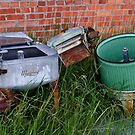 Antique Wringer Washer and Laundry Tub by Sue Smith