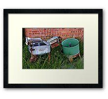 Antique Wringer Washer and Laundry Tub Framed Print
