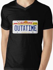 Outatime License Plate Mens V-Neck T-Shirt