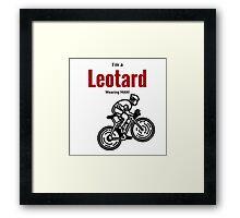 Leotard wearing man: Black & Red Framed Print