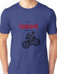 Leotard wearing man: Black & Red Unisex T-Shirt