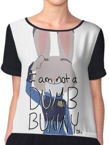 """Judy Hopps """"I Am Not A Dumb Bunny"""" Chiffon Top"""