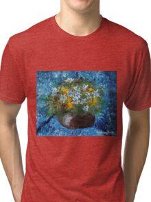 Flowers in Pot Tri-blend T-Shirt