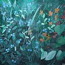 Flowers in Garden by Margo Humphries