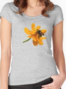 Bumble Bee Busy Women's Fitted Scoop T-Shirt