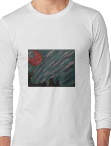 """""""Forest Green Skies"""" Acrylic Painting Long Sleeve T-Shirt"""