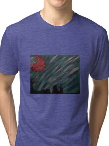 """Forest Green Skies"" Acrylic Painting Tri-blend T-Shirt"