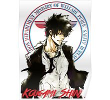 Kougami Shinya with stamp psycho pass Poster