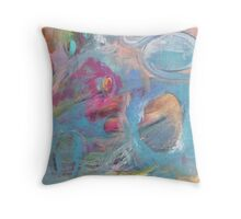 Feminine & Colourful Abstract Painting Throw Pillow