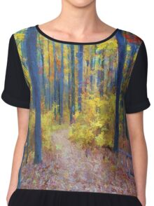 Deep in the Heart of Color Chiffon Top