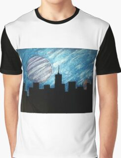 """City Lights"" Acrylic Painting Graphic T-Shirt"