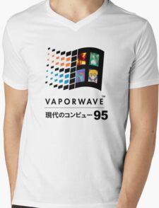 Vaporwave 95 ver. 2 Mens V-Neck T-Shirt