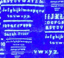 Sarah Prior's Sampler 1841 Photograph Digitally Altered Sticker
