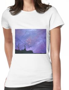 """Desert Nights"" Original Acrylic Painting Womens Fitted T-Shirt"