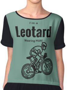 I'm a leotard wearing bike rider. Black Chiffon Top