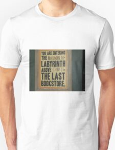 """Last Bookstore"" Sign Photograph Unisex T-Shirt"