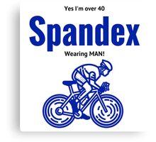 over 40 wearing spandex bike rider Canvas Print