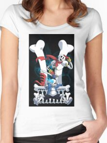 Sans and Papyrus Women's Fitted Scoop T-Shirt