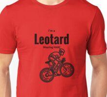 Leotard wearing bike rider Unisex T-Shirt