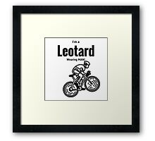 Leotard wearing bike rider Framed Print