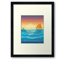 Count On Me Ocean Illustration Framed Print