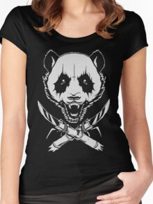 Black Metal Panda Women's Fitted Scoop T-Shirt