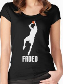 Faded - White Women's Fitted Scoop T-Shirt