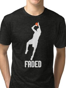 Faded - White Tri-blend T-Shirt