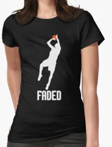 Faded - White Womens Fitted T-Shirt