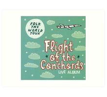 Flight of the Conchords - Folk the World Tour Art Print