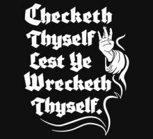 Checketh Thyself Kids Tee