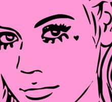 Primadonna (Black/Pink) Sticker
