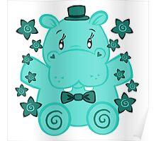 Sir Hippopotamus Poster