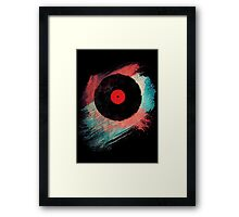 Vinyl Record - Modern Vinyl Records Grunge Design - Tshirt and more Framed Print