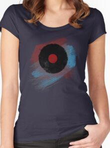 Vinyl Record - Modern Vinyl Records Grunge Design - Tshirt and more Women's Fitted Scoop T-Shirt