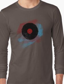 Vinyl Record - Modern Vinyl Records Grunge Design - Tshirt and more Long Sleeve T-Shirt