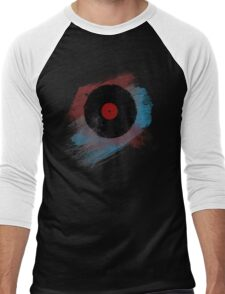 Vinyl Record - Modern Vinyl Records Grunge Design - Tshirt and more Men's Baseball ¾ T-Shirt