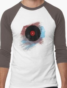 Vinyl Record - Modern Vinyl Records Grunge Design - Tshirt and more Men's Baseball ¾ T-Shirt