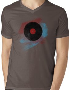 Vinyl Record - Modern Vinyl Records Grunge Design - Tshirt and more Mens V-Neck T-Shirt