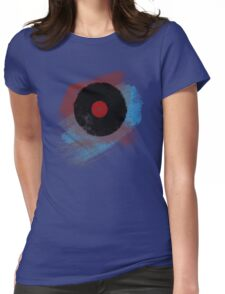 Vinyl Record - Modern Vinyl Records Grunge Design - Tshirt and more Womens Fitted T-Shirt