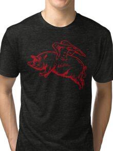 Flying Pig Tri-blend T-Shirt