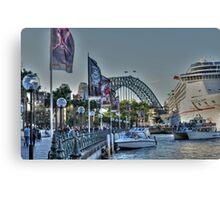 Bustling Circular Quay, Sydney, Australia Canvas Print