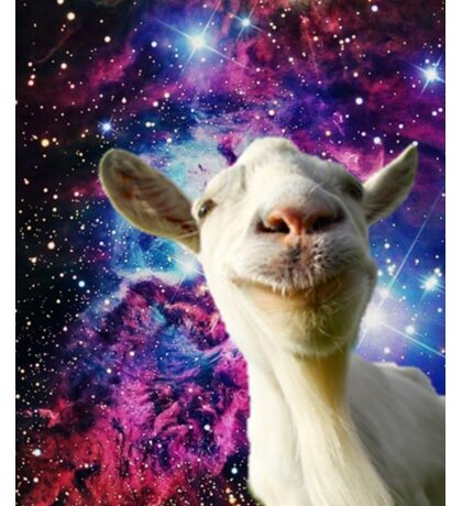 Goats in Space!!!! Sticker