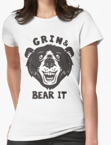 Grin And Bear It Womens Fitted T-Shirt