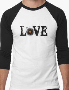 Love Vinyl Records Men's Baseball ¾ T-Shirt